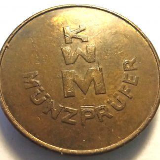 KWM. Munzprufer. Прачечный жетон.