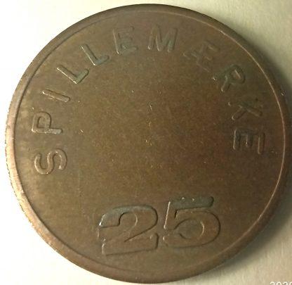 жетон Дания 25 spielmarke automat branche forening dansk