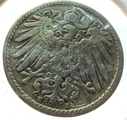 Германия 5 пфеннигов, 1898