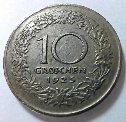 Австрия 10 грошей 1925