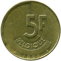 Бельгия 5 франков, 1993